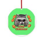 Raccoon Christmas Ornament (Round)