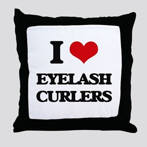 eyelash curlers Throw Pillow