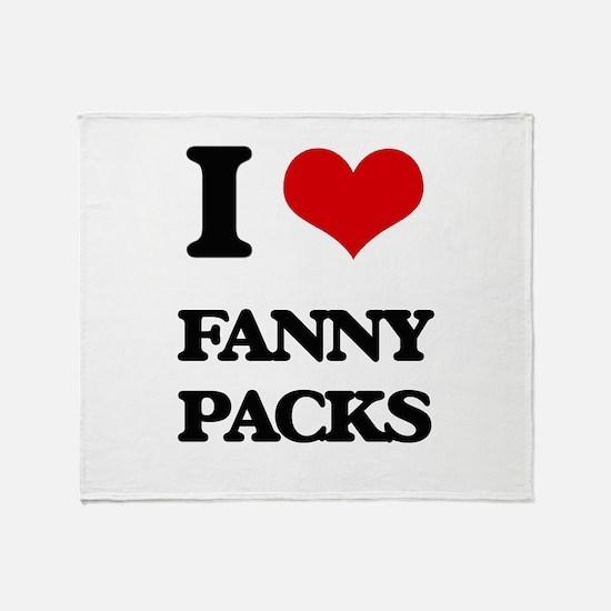 fanny packs Throw Blanket
