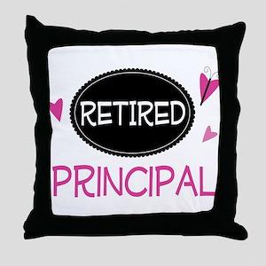 Retired Principal Throw Pillow