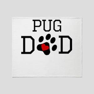 Pug Dad Throw Blanket