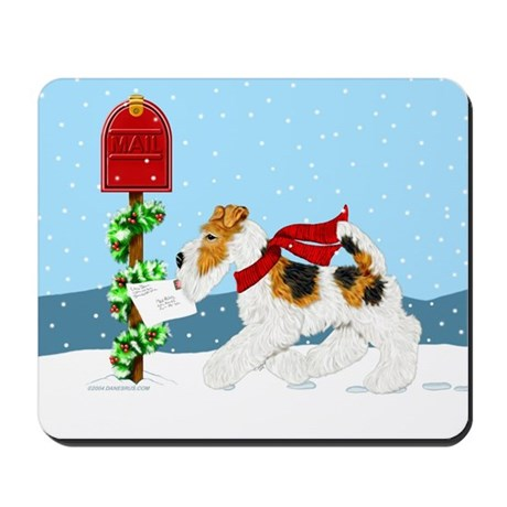Christmas Wire Mail Mousepad