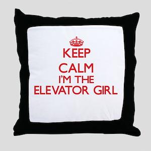 Keep calm I'm the Elevator Girl Throw Pillow