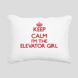 Keep calm I'm the Elevat Rectangular Canvas Pillow
