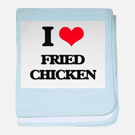 fried chicken baby blanket
