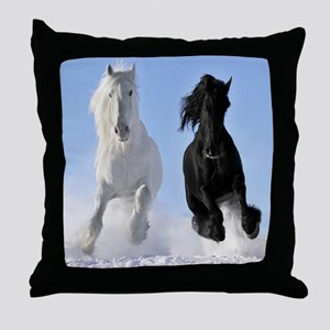 Beautiful Horses Throw Pillow