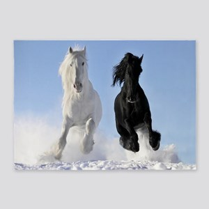 Beautiful Horses 5'x7'Area Rug