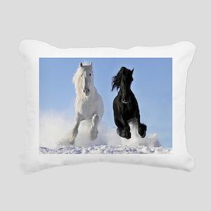 Beautiful Horses Rectangular Canvas Pillow