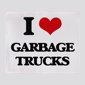 garbage trucks Throw Blanket