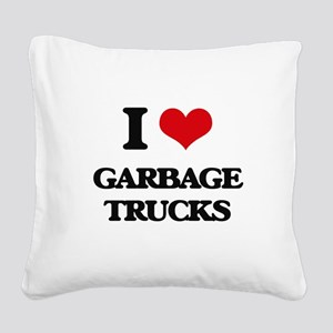 garbage trucks Square Canvas Pillow