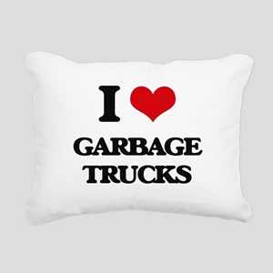 garbage trucks Rectangular Canvas Pillow