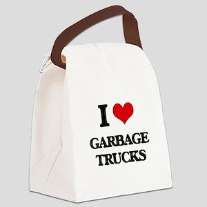 garbage trucks Canvas Lunch Bag