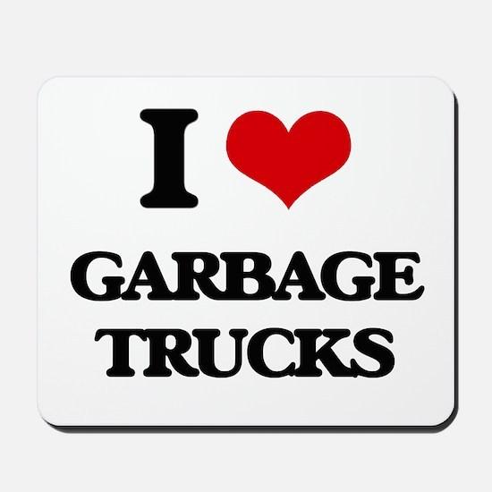 garbage trucks Mousepad