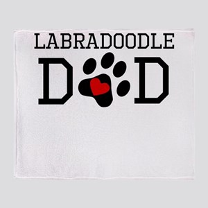 Labradoodle Dad Throw Blanket