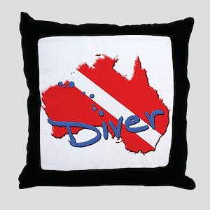 Dive Australia Throw Pillow