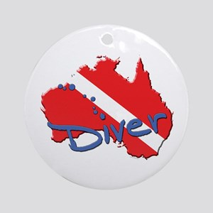 Dive Australia Ornament (Round)