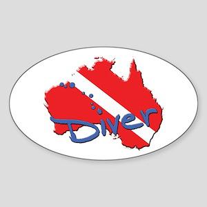Dive Australia Oval Sticker