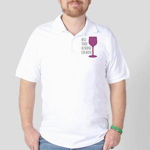 Husband For Wine Golf Shirt