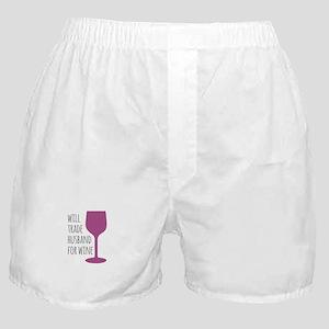 Husband For Wine Boxer Shorts