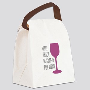 Husband For Wine Canvas Lunch Bag