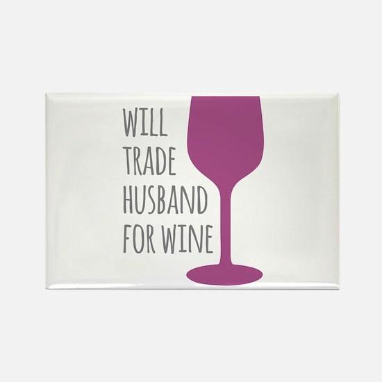 Husband For Wine Rectangle Magnet