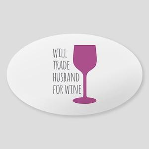 Husband For Wine Sticker (Oval)