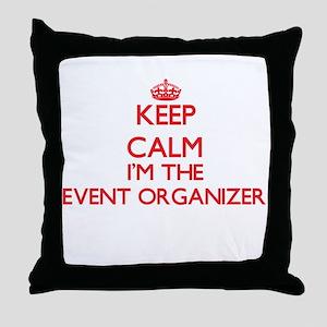 Keep calm I'm the Event Organizer Throw Pillow