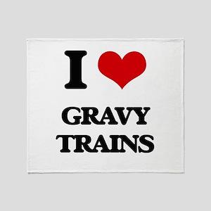 gravy trains Throw Blanket