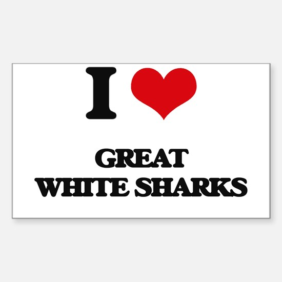 great white sharks Decal
