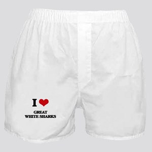 great white sharks Boxer Shorts