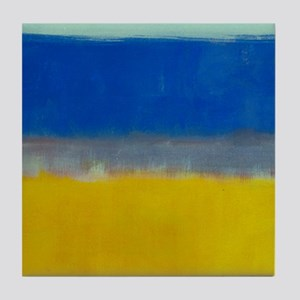 ROTHKO BLUE YELLOW Tile Coaster
