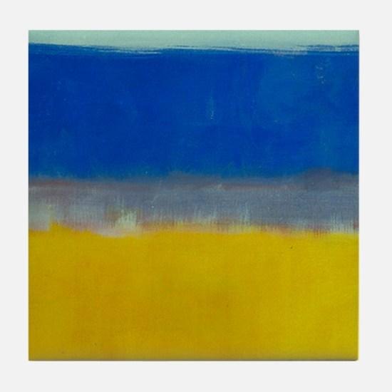 ROTHKO BLUE YELLOW Tile Coaster