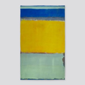 ROTHKO BLUE YELLOW Area Rug