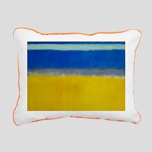 ROTHKO BLUE YELLOW Rectangular Canvas Pillow