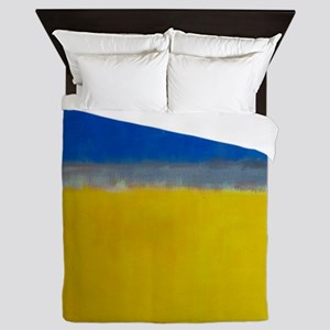 ROTHKO BLUE YELLOW Queen Duvet