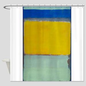 ROTHKO BLUE YELLOW Shower Curtain