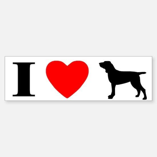 I Love Bracchi Italiani Bumper Bumper Bumper Sticker