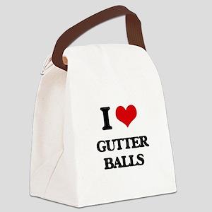 gutter balls Canvas Lunch Bag