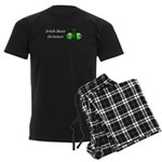 Irish Beer Drinker Men's Dark Pajamas
