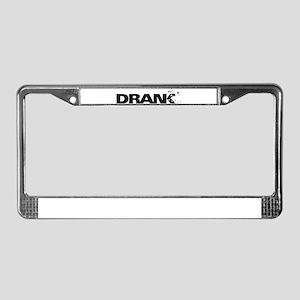 Drank License Plate Frame
