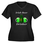 Irish Beer D Women's Plus Size V-Neck Dark T-Shirt