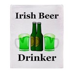 Irish Beer Drinker Throw Blanket