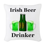 Irish Beer Drinker Woven Throw Pillow
