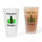 Irish Beer Drinker Drinking Glass