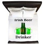 Irish Beer Drinker King Duvet