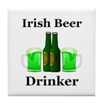 Irish Beer Drinker Tile Coaster
