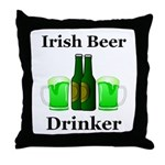Irish Beer Drinker Throw Pillow