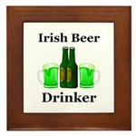 Irish Beer Drinker Framed Tile