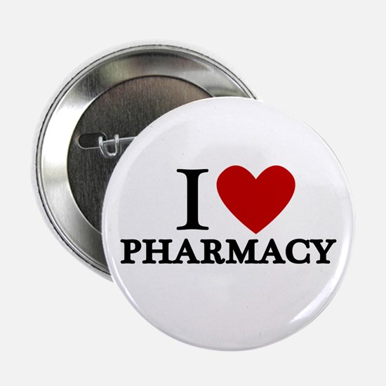 "I Love Pharmacy 2.25"" Button"
