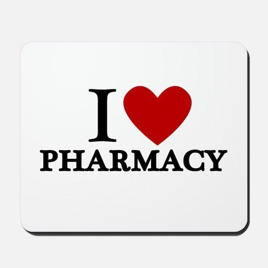 I Love Pharmacy Mousepad